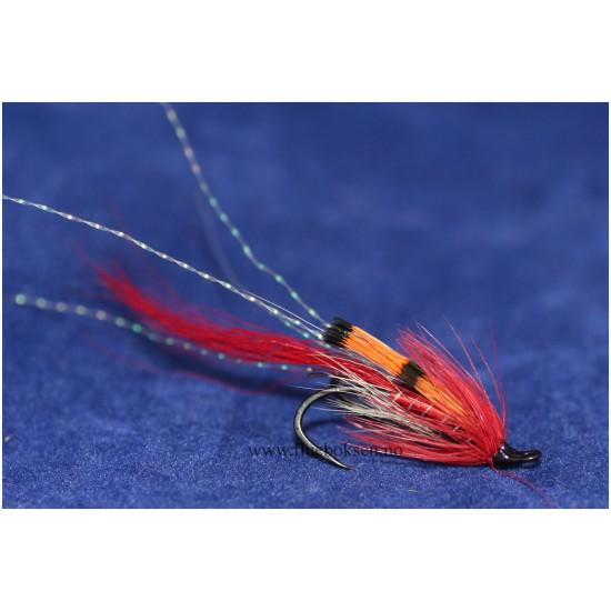 Ally's shrimp, rød (dobbelkrok)