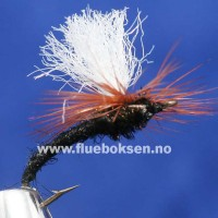 Klinkhammer Black, brown hackle